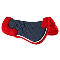 Lena Fleece Horseback Riding Foam Saddle Pad for Horse and Pony - Red