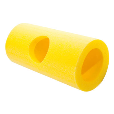 Multiconector de gusanos de espuma amarillo