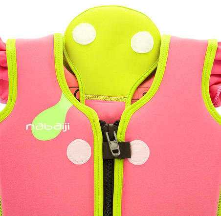 Pink swim vest for children already comfortable in the water