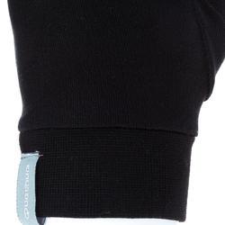 Zijden onderhandschoenen voor kinderen Forclaz 100 zwart - 646432
