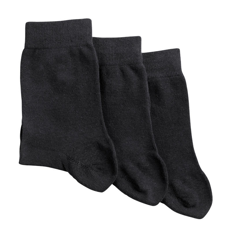 Socks Black - Adult High Tri pack