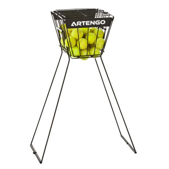 Tennisballenmand voor coaches zwart - 647677