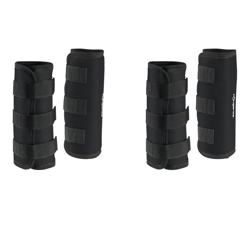 Traveller 300 Horse Riding Shipping Boots for Horse 4-Pack - Black