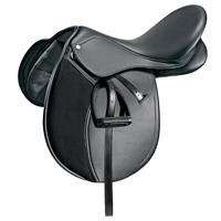"Synthia Horseback Riding Synthetic All-Purpose 16½"" Saddle for Horse/Pony Black"