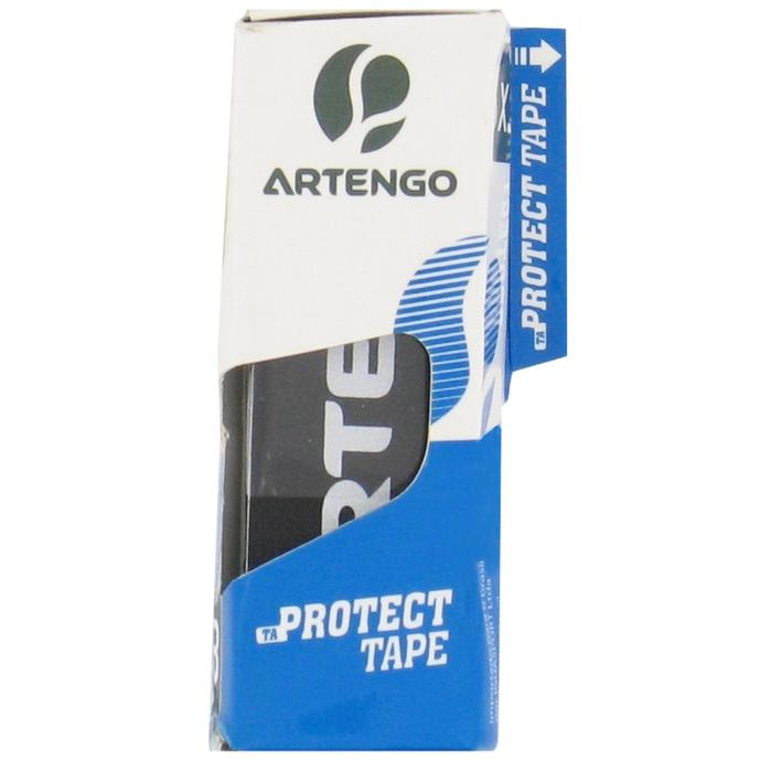 Schutzband Schlägerkopf Tennis Protect Tape 3er-Set schwarz