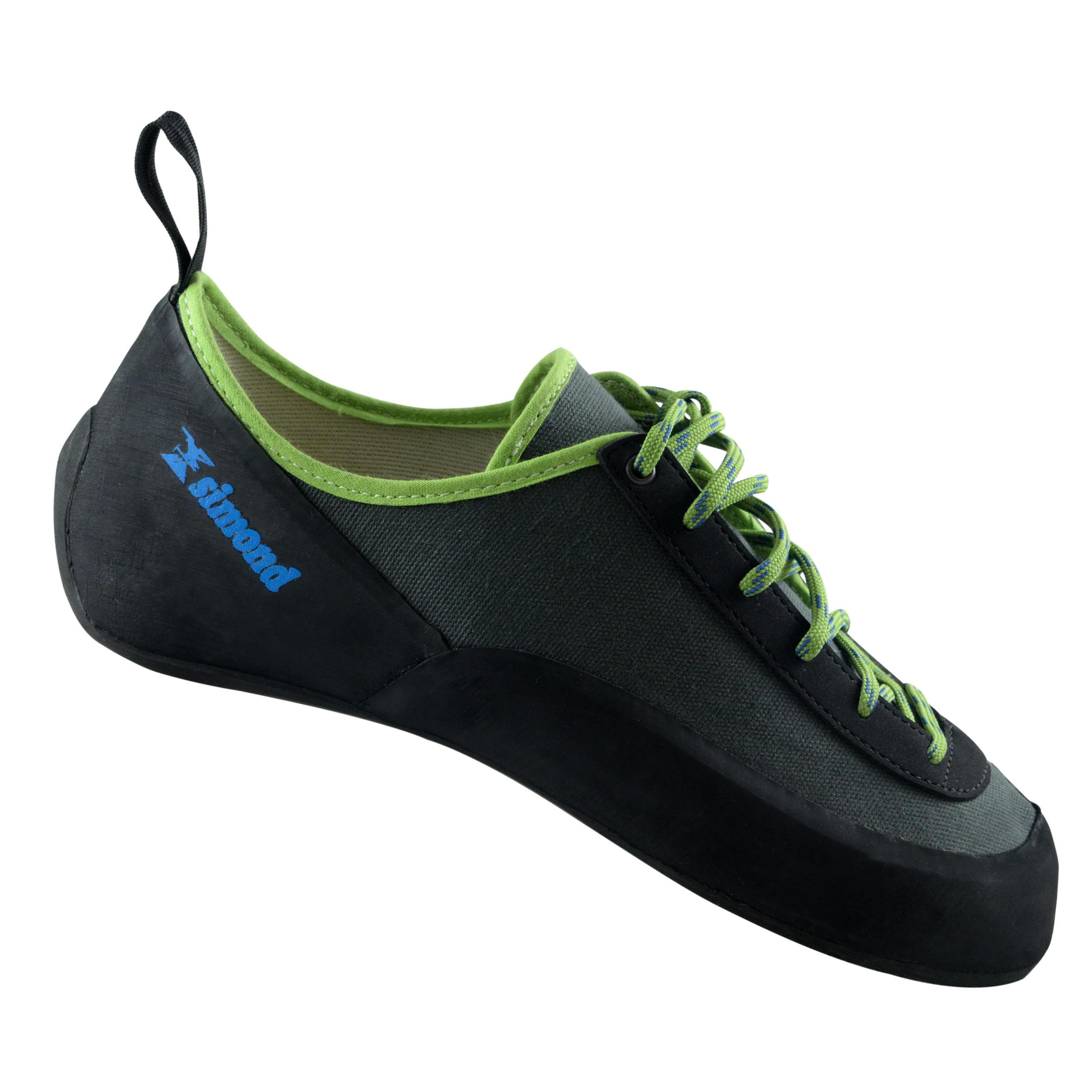 Kletterschuhe Rock+ Erwachsene grau | Schuhe > Outdoorschuhe > Kletterschuhe | Grau - Schwarz - Grün | Simond