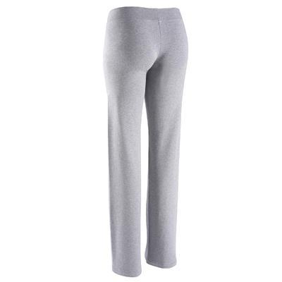 Pantalon FIT+ regular, fitness femme, gris chiné