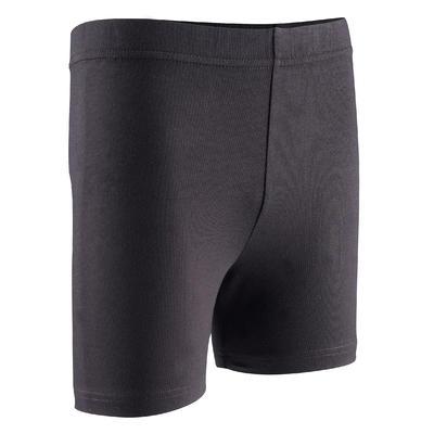 100 Girls' Gym Shorts - Black