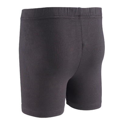100 Girls' Gym Shorts - Black