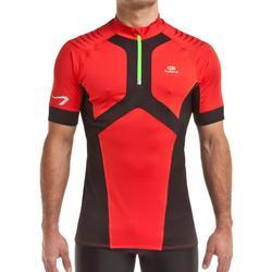 Camiseta manga corta trail running Kapteren performance hombre rojo / negro