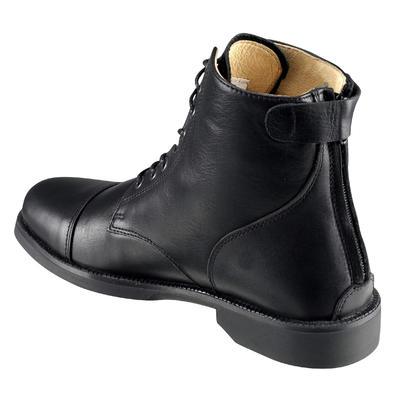 Boots équitation adulte PADDOCK LACETS noir