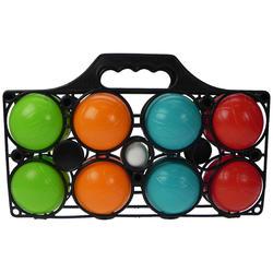 8 kunststof jeu de boules ballen