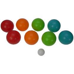 Jeu de boules set 8 kunststof ballen