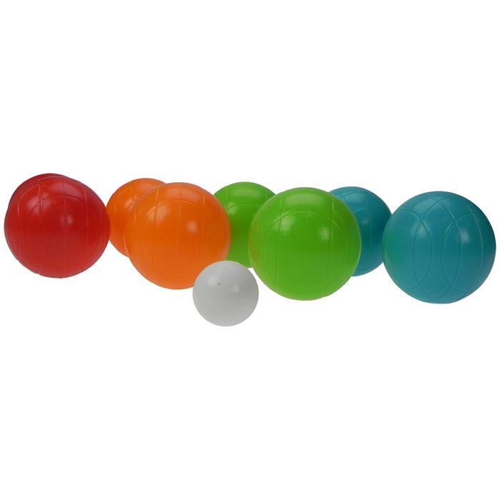 8 plastic petanqueballen