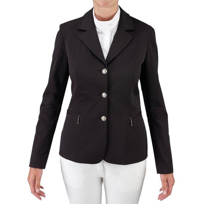 Veste de Concours équitation femme COMP500 noir - 655578