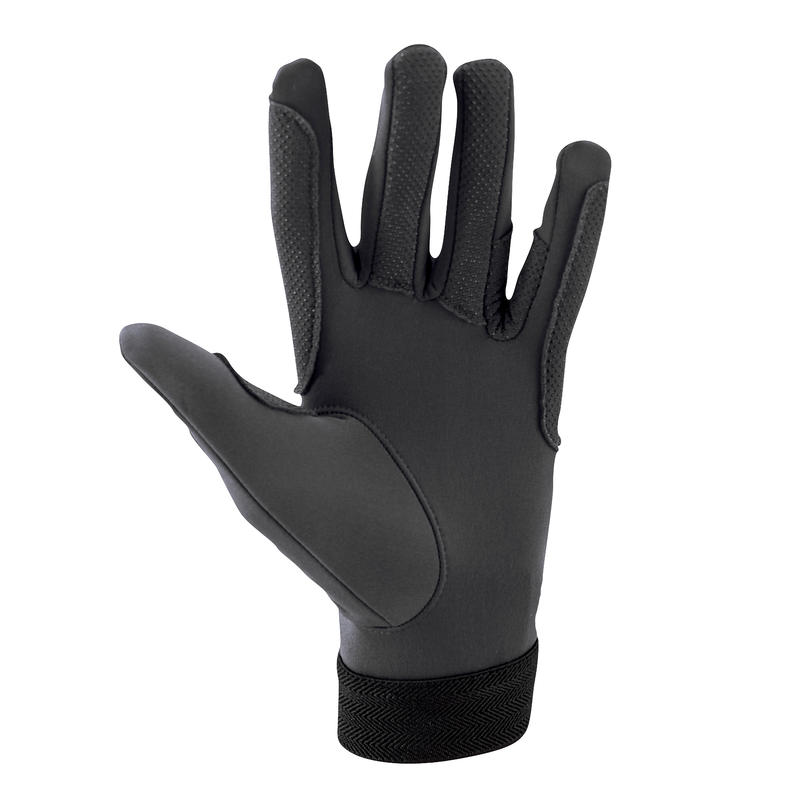 Riding Adult Horse Riding Gloves - Black