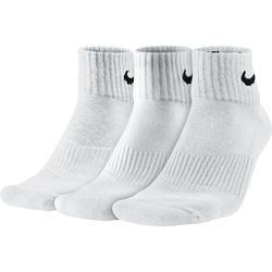 Sportsokken volwassenen Basic halfhoog, 3 paar wit