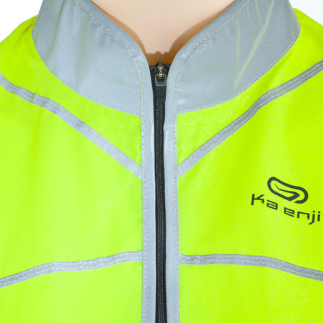 By Night Women's Windproof Running Gilet Flo. Yellow