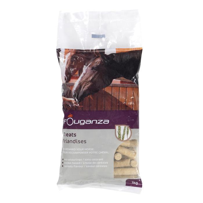Leckerlis für Pferde und Ponys Fougatreats Getreide - 1 kg