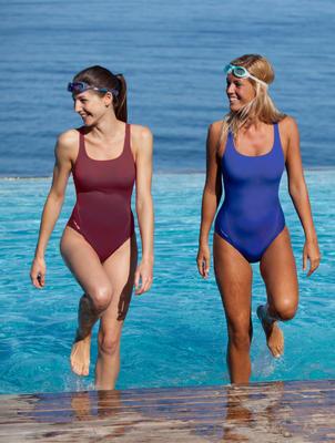 Maillot de bain de natation une pièce femme Leony bleu royal