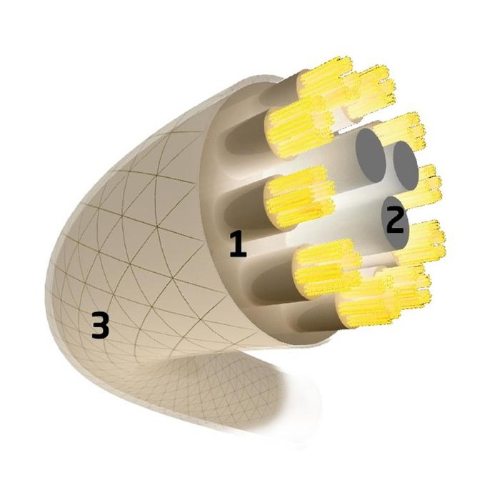 CORDAGE DE TENNIS MULTIFILAMENTS XR3 1.3mm NATUREL - 661001