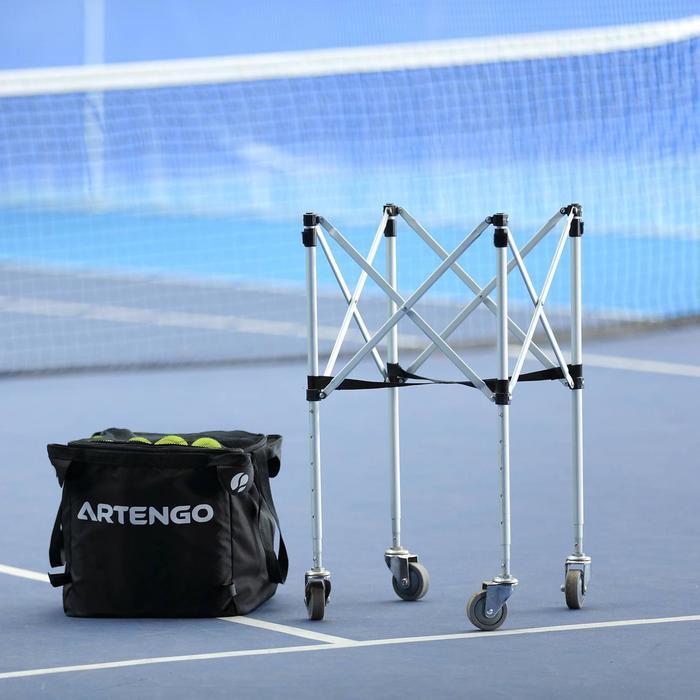 Ballenmand op wieltjes voor tennisballen