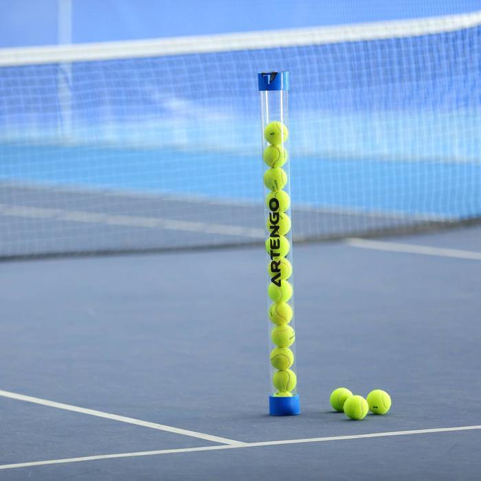 Ballröhre Ballsammler Tennisbälle blau