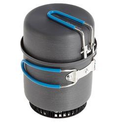 Eenpersoons kookpan voor trekking uit aluminium (0,8 liter)