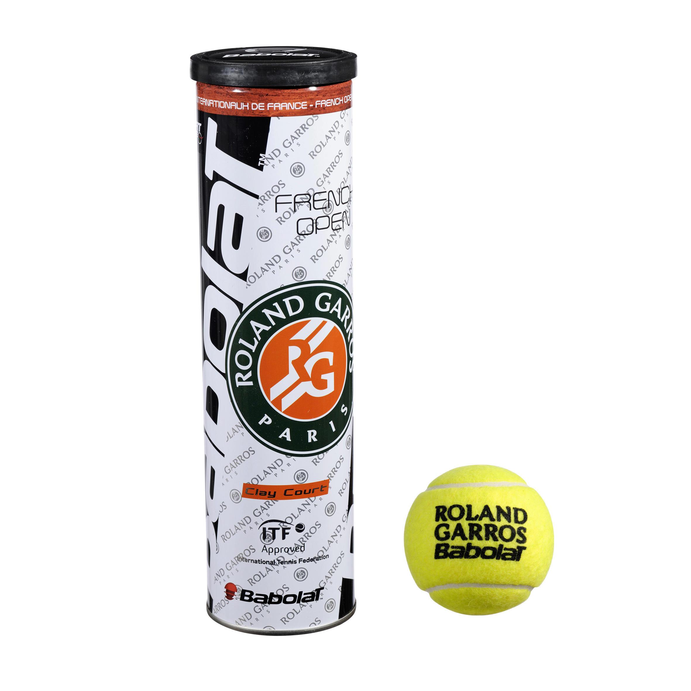 tennisballen French Open clay court geel 4 stuks