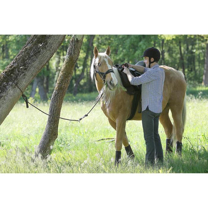 Pantalón Equitación Fouganza Hombre Vaqueros Gris Oscuro
