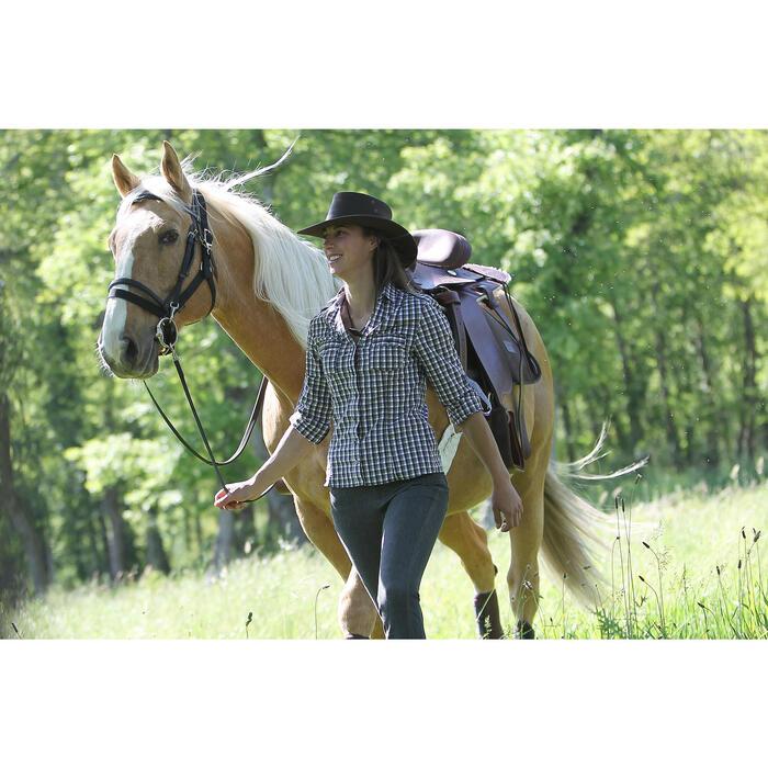 Pantalón equitación mujer BAJOS RECTOS VAQUEROS gris