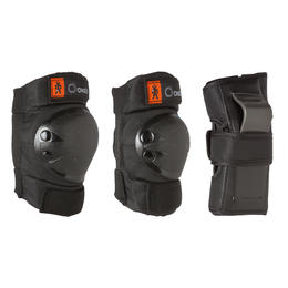 Basic Kids' 3-Piece Skating Skateboarding Scooter Protective Gear - Black