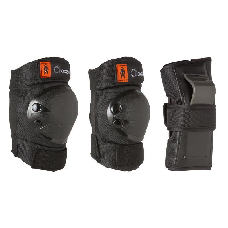 Basic Kids 3-Piece Skating Skateboarding Scooter Protective Gear - Black
