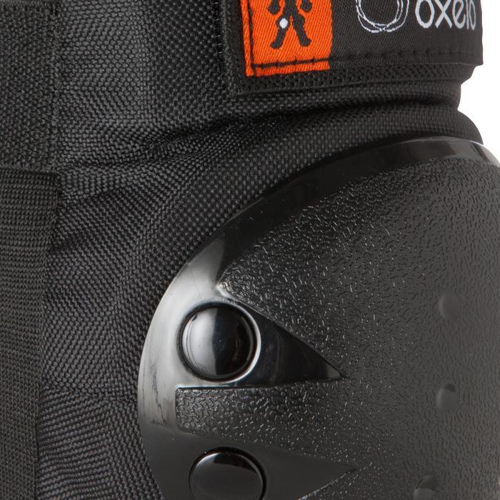 Set 3 protecciones roller skateboard patinete niños BASIC negro