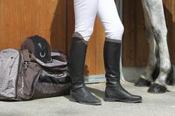 Leren paardrijlaarzen voor dames VICTORY, zwart - kuitmaat M - 663189