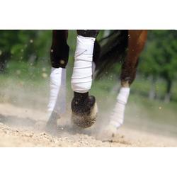 4 bandes de polo équitation cheval et poney blanc - 3 m