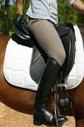 Leren rijlaarzen Riding voor volwassenen - 663204
