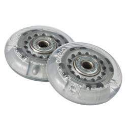 兒童款63 mm 80A附軸承直排輪輪子Flash(2入組)