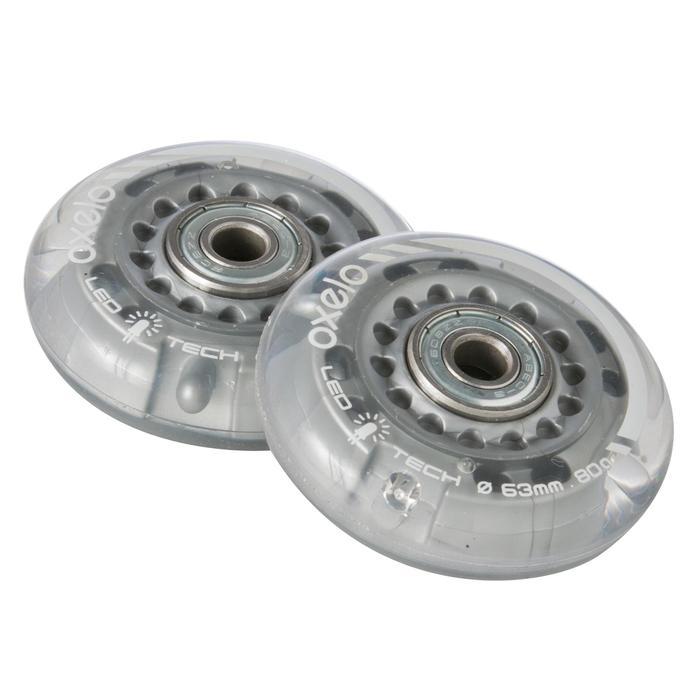 Lot 2 roues avec roulements roller enfant FLASH 63mm 80A