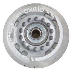 發光63 mm 80A兒童直排輪鞋輪及軸承-2入