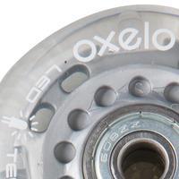 2 Kids' Skate Wheels with Bearings 63 mm 80A Flash