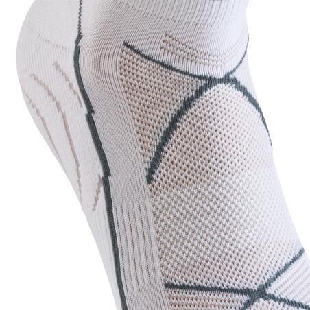 Forclaz 100 adult hiking ultra low cut socks - white