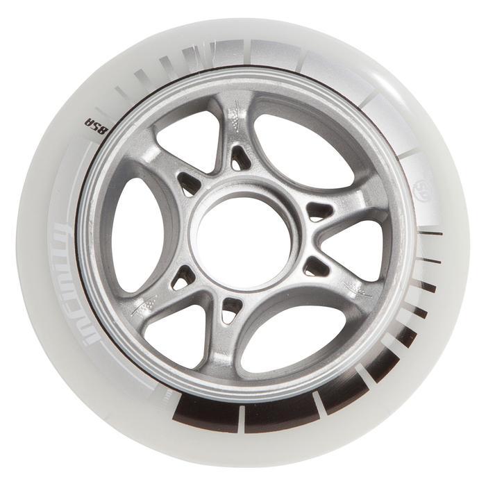 4 wielen voor skeelers volwassenen Infinity 90 mm 85A wit