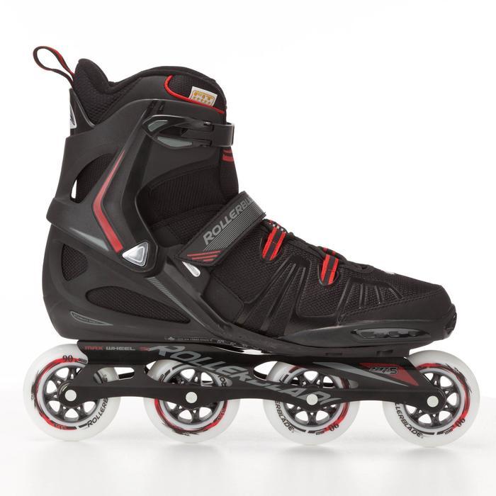 Inlline-Skates XL für Übergößen 48-52 schwarz/rot