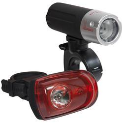 Led fietsverlichting voor- en achterlicht Quadro X Combo