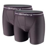Men's Ekiden Running Boxers Pack of 2 - black