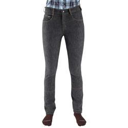 Damesrijbroek met rechte pijpen jeans grijs - 666107