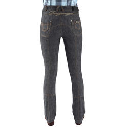 Damesrijbroek met rechte pijpen jeans grijs - 666120