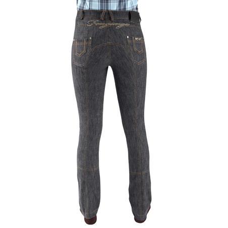 Pantalon d'équitation en jeans, jambe droite – F