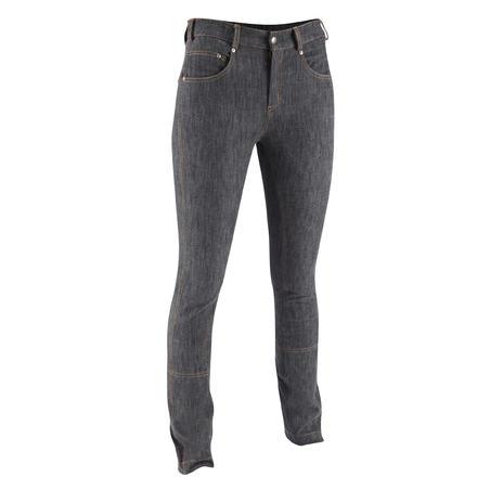 Women's Straight-Leg Horse Riding Jeans - Grey